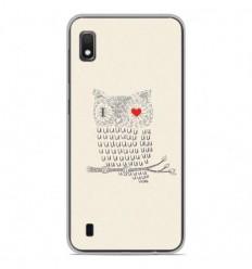Coque en silicone Samsung Galaxy A10 - I Love Hiboux