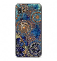Coque en silicone Samsung Galaxy A10 - Mandalla bleu