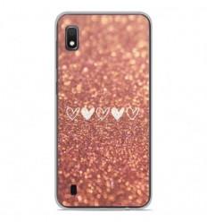 Coque en silicone Samsung Galaxy A10 - Paillettes coeur