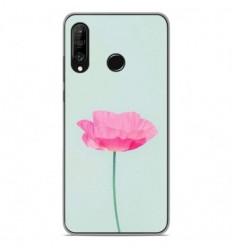 Coque en silicone Huawei P30 Lite - Fleur Rose