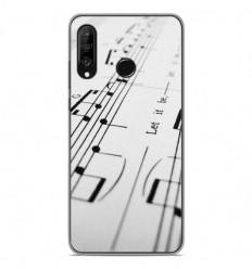 Coque en silicone Huawei P30 Lite - Partition de musique