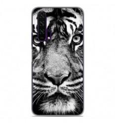 Coque en silicone Huawei Honor 20 Pro - Tigre blanc et noir