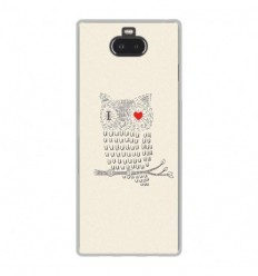 Coque en silicone Sony Xperia 10 Plus - I Love Hiboux