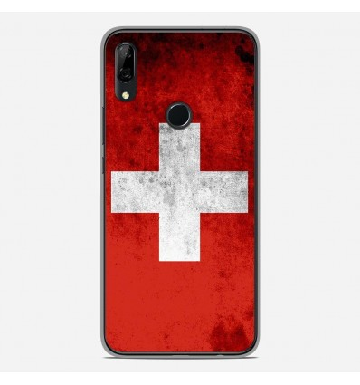 Coque en silicone Huawei P Smart Z - Drapeau Suisse