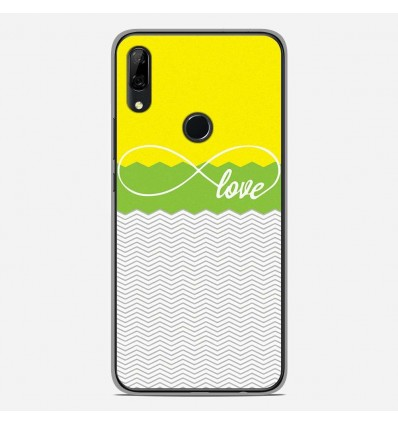 Coque en silicone Huawei P Smart Z - Love Jaune