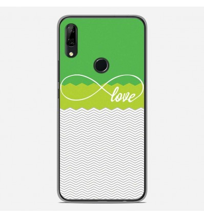 Coque en silicone Huawei P Smart Z - Love Vert