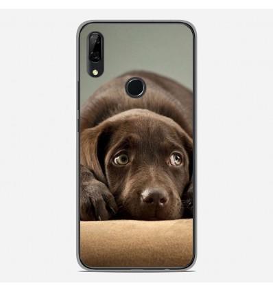 Coque en silicone Huawei P Smart Z - Chiot marron