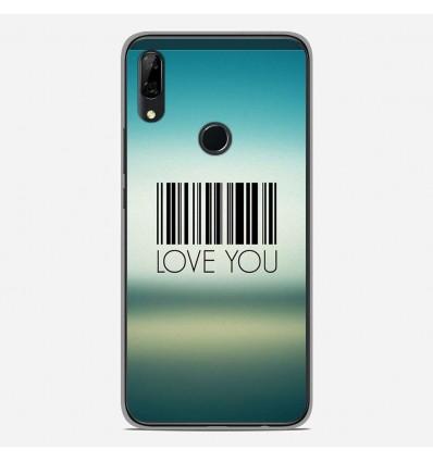 Coque en silicone Huawei P Smart Z - Code barre Love you