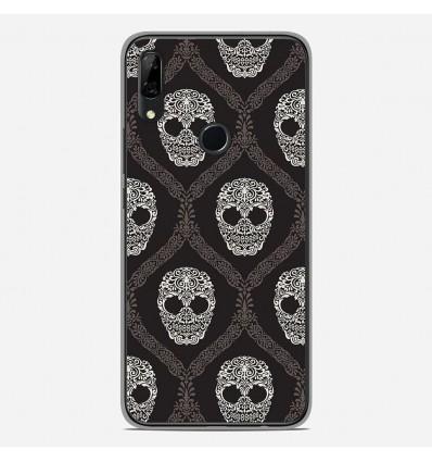 Coque en silicone Huawei P Smart Z - Floral skull