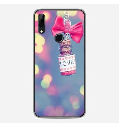 Coque en silicone Huawei P Smart Z - Love noeud rose
