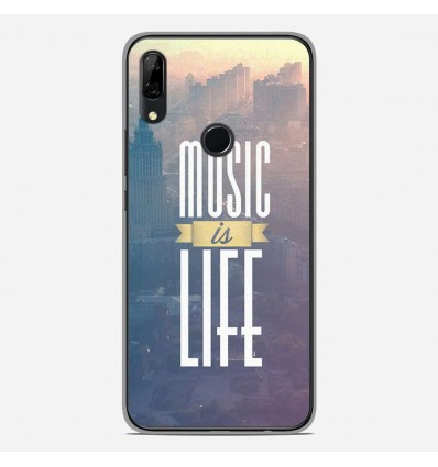 Coque en silicone Huawei P Smart Z - Music is life