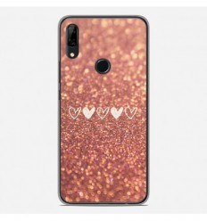 Coque en silicone Huawei P Smart Z - Paillettes coeur