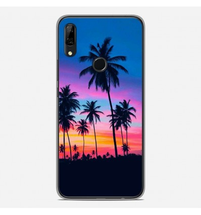 Coque en silicone Huawei P Smart Z - Palmiers colorés
