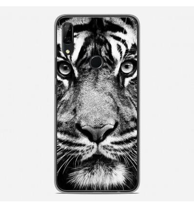 Coque en silicone Huawei P Smart Z - Tigre blanc et noir