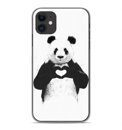 Coque en silicone Apple iPhone 11 - BS Love Panda