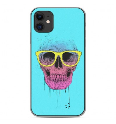 Coque en silicone Apple iPhone 11 - BS Skull glasses