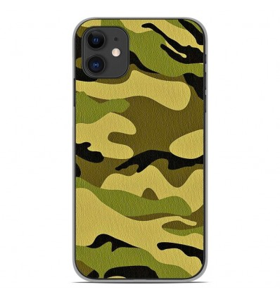 Coque en silicone Apple iPhone 11 - Camouflage