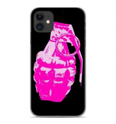 Coque en silicone Apple iPhone 11 - Grenade rose