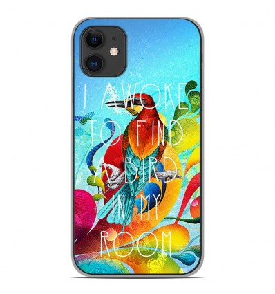 Coque en silicone Apple iPhone 11 - Mocking bird