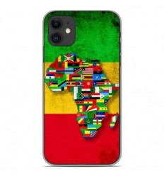Coque en silicone Apple iPhone 11 - Drapeau Africa Unite