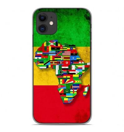 Coque en silicone pour Apple iPhone 11 - Drapeau Africa Unite