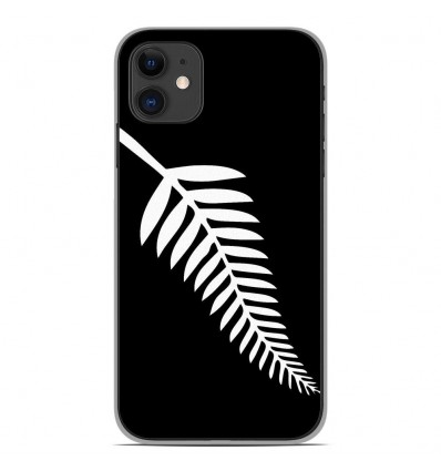 Coque en silicone Apple iPhone 11 - Drapeau All-black