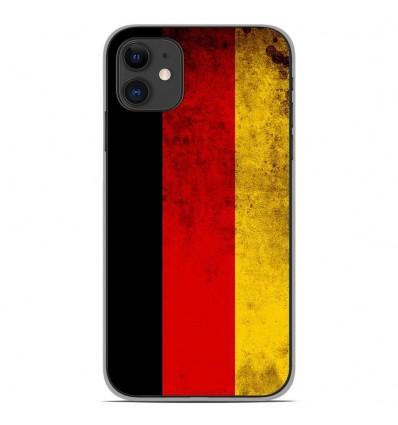 Coque en silicone Apple iPhone 11 - Drapeau Allemagne