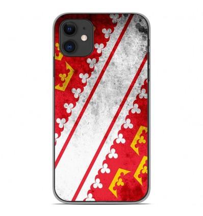 Coque en silicone Apple iPhone 11 - Drapeau Alsace