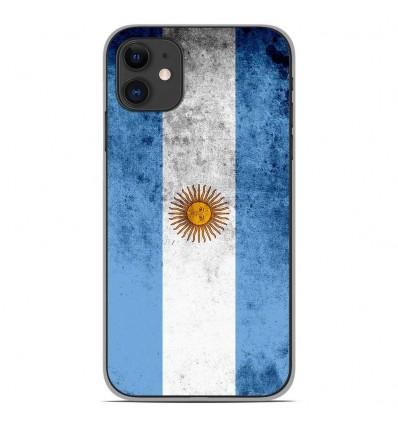Coque en silicone Apple iPhone 11 - Drapeau Argentine