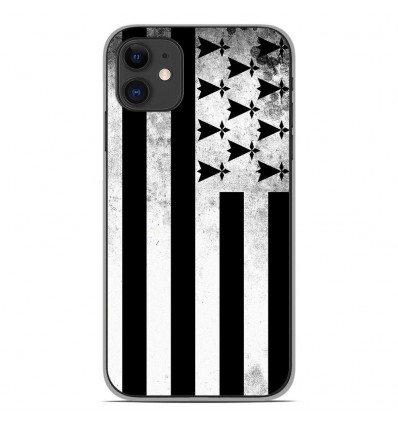 Coque en silicone Apple iPhone 11 - Drapeau Bretagne