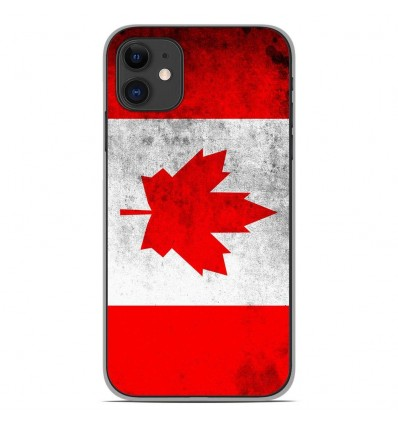 Coque en silicone Apple iPhone 11 - Drapeau Canada