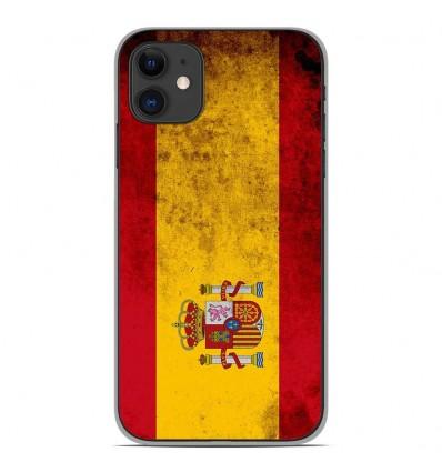 Coque en silicone Apple iPhone 11 - Drapeau Espagne