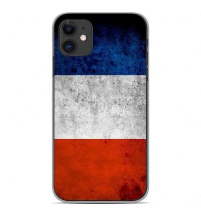 Coque en silicone Apple iPhone 11 - Drapeau France