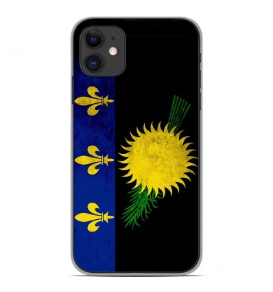 Coque en silicone Apple iPhone 11 - Drapeau Guadeloupe