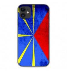 Coque en silicone Apple iPhone 11 - Drapeau La Réunion
