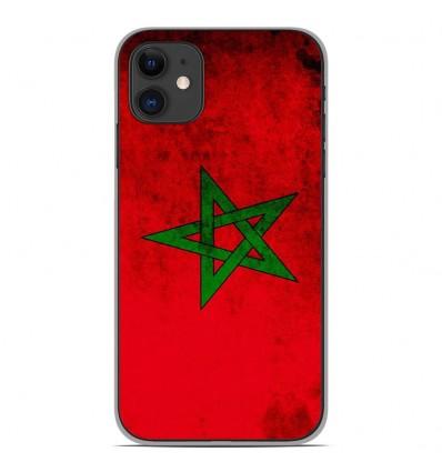 Coque en silicone Apple iPhone 11 - Drapeau Maroc