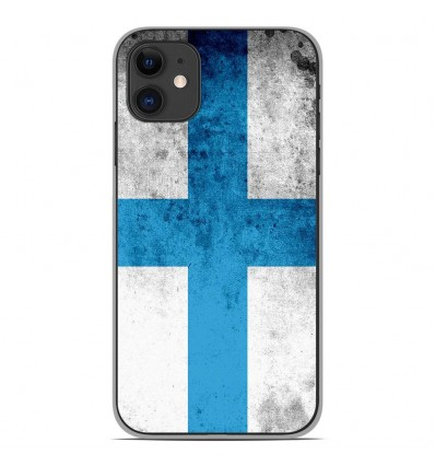 Coque en silicone Apple iPhone 11 - Drapeau Marseille