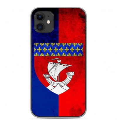 Coque en silicone Apple iPhone 11 - Drapeau Paris