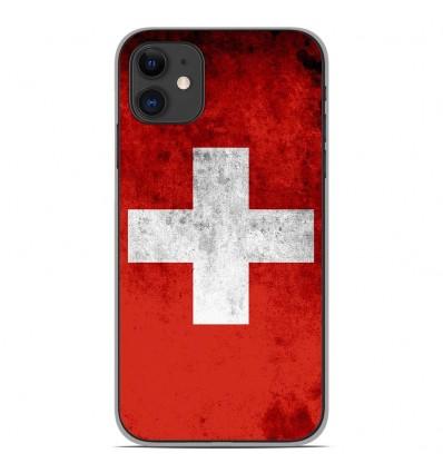 Coque en silicone pour Apple iPhone 11 - Drapeau Suisse