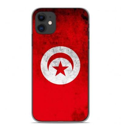 Coque en silicone Apple iPhone 11 - Drapeau Tunisie