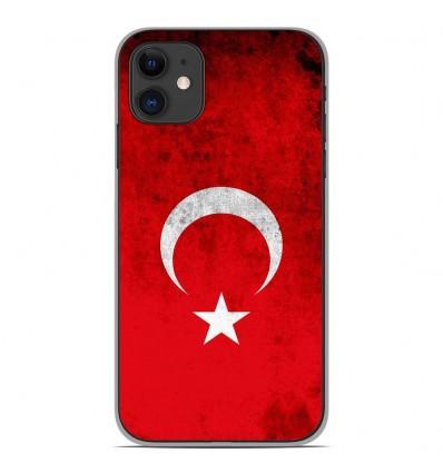 Coque en silicone Apple iPhone 11 - Drapeau Turquie