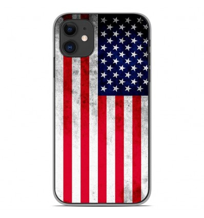Coque en silicone Apple iPhone 11 - Drapeau USA