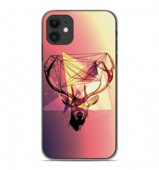 Coque en silicone Apple iPhone 11 - Cerf Hipster