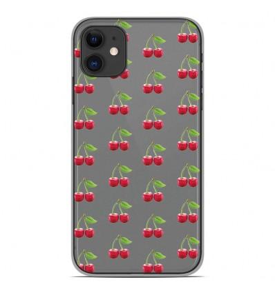 Coque en silicone Apple iPhone 11 - Cerises Gris