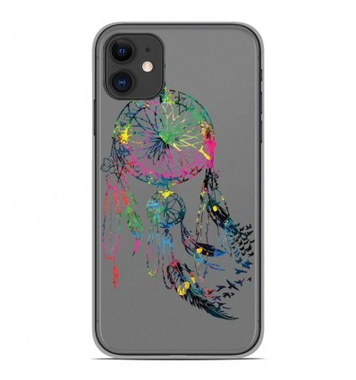 Coque en silicone Apple iPhone 11 - Dreamcatcher Gris
