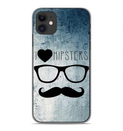 Coque en silicone Apple iPhone 11 - I Love Hipster