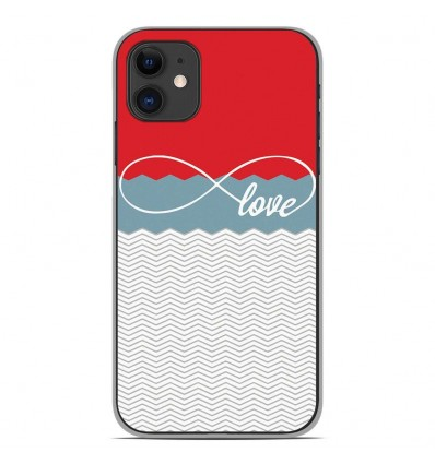 Coque en silicone Apple iPhone 11 - Love Rouge