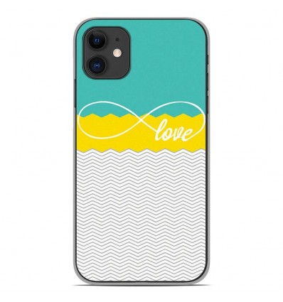 Coque en silicone Apple iPhone 11 - Love Turquoise