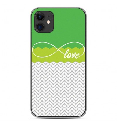 Coque en silicone Apple iPhone 11 - Love Vert