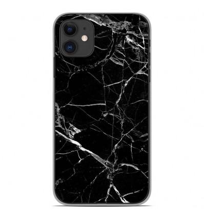 Coque en silicone Apple iPhone 11 - Marbre Noir